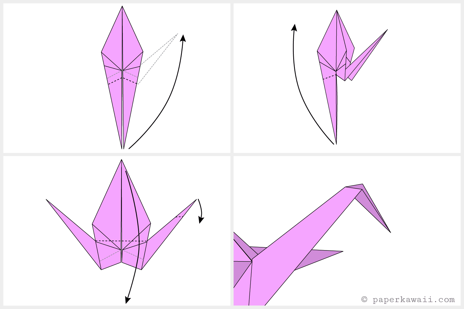 Easy Origami Crane Instructions