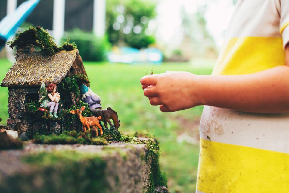 Fairy theme garden