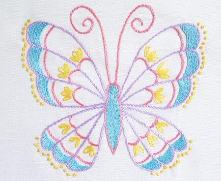 Stem Stitch Butterfly Pattern Gorgeous Butterfly Pattern