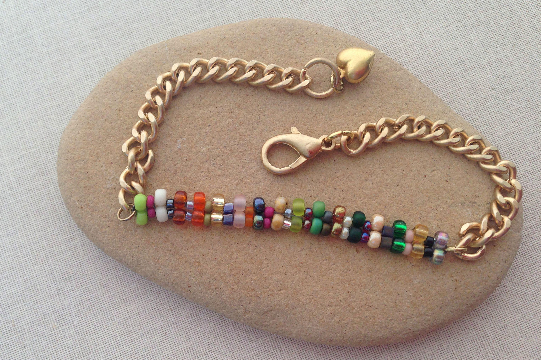 A brick stitch identity style bracelet