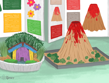 Illustration of kids science fair projects