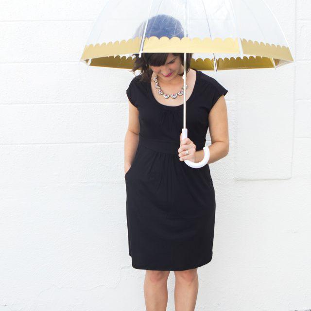 DIY Scalloped Edge Umbrella