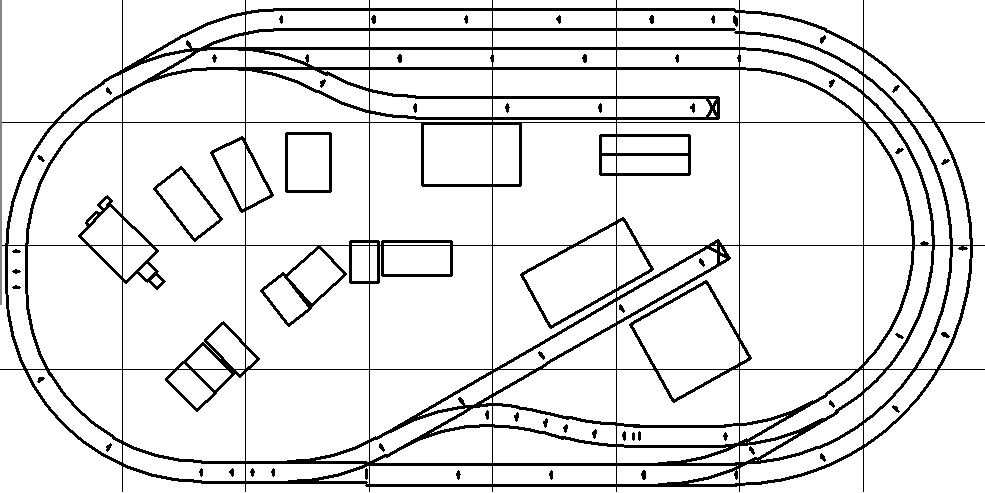 HO Model Railroad Plan