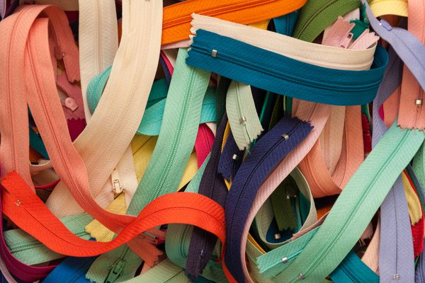 Colorful zippers
