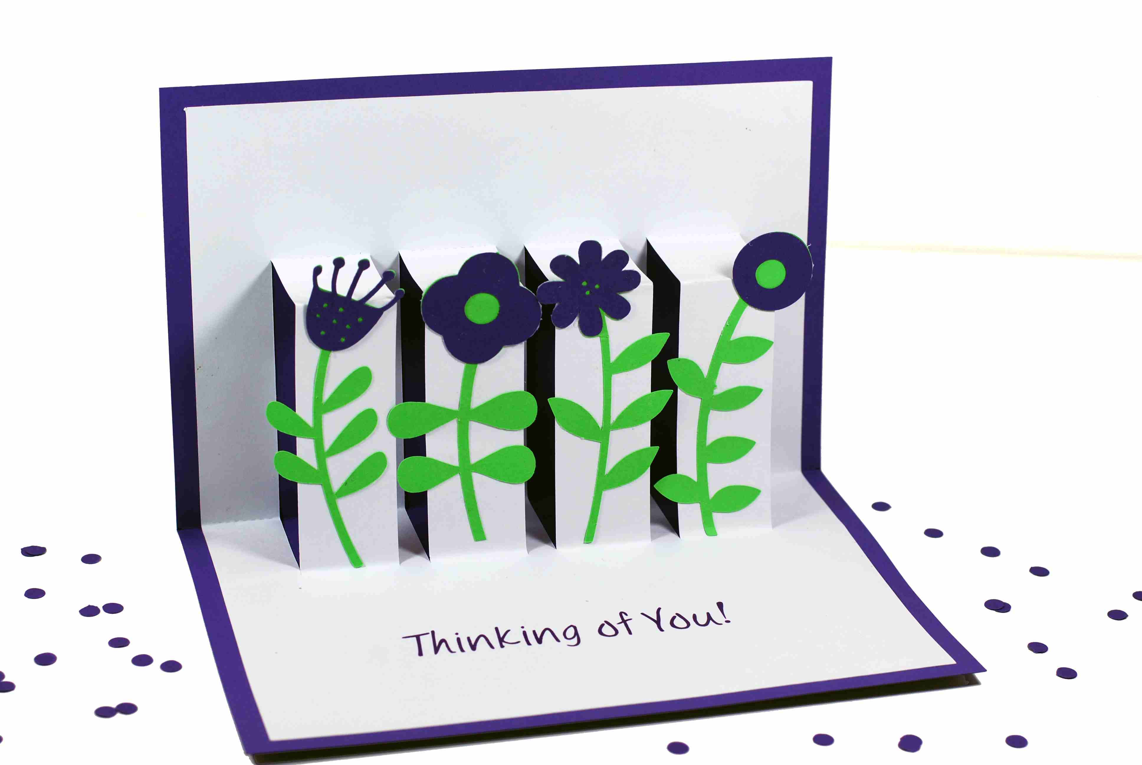 Learn how to Make a Floral Pop Up Greeting Card