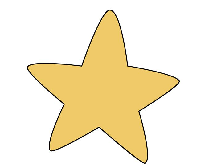 A yellow rounded star.