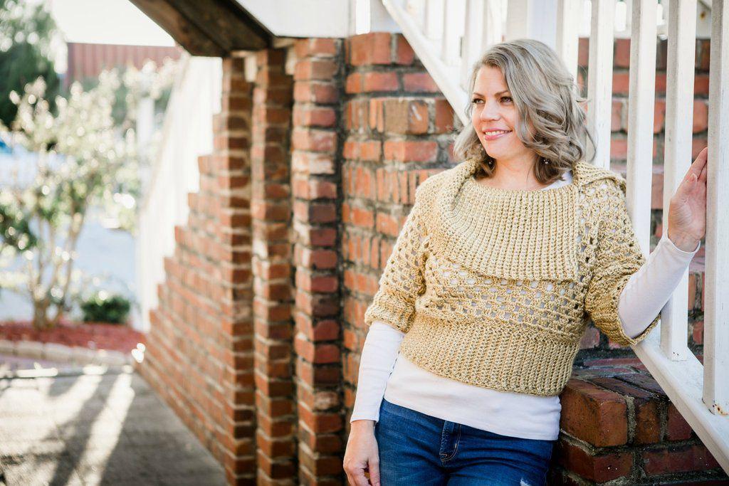 Cropped Crochet Sweater Free Pattern