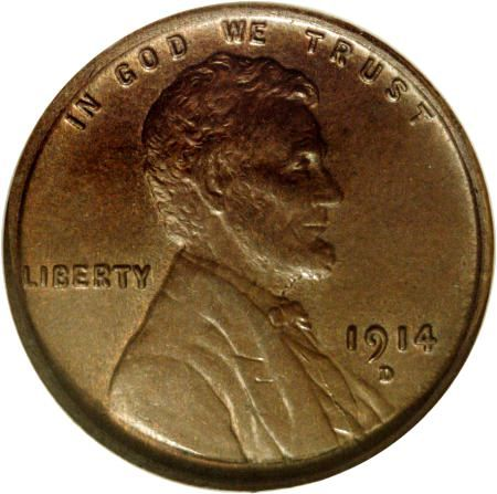 Copper Cent With Brown Color