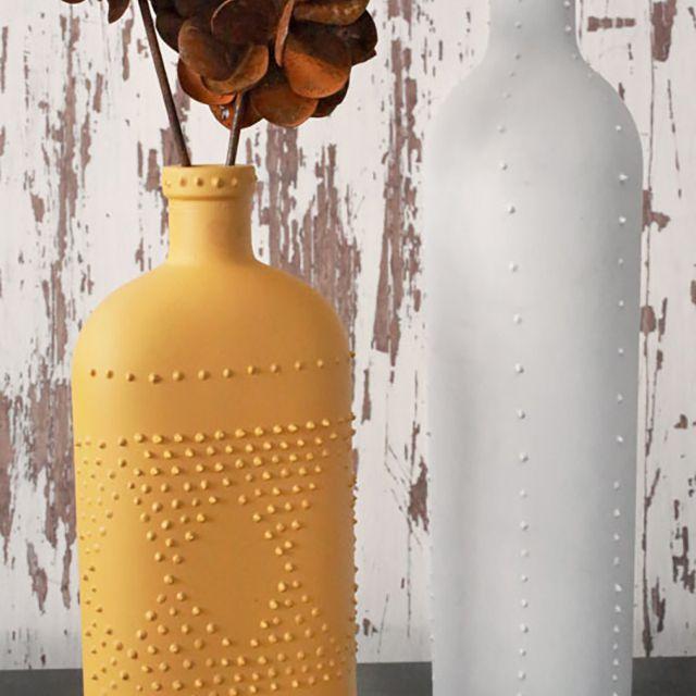 wine bottle art ideas