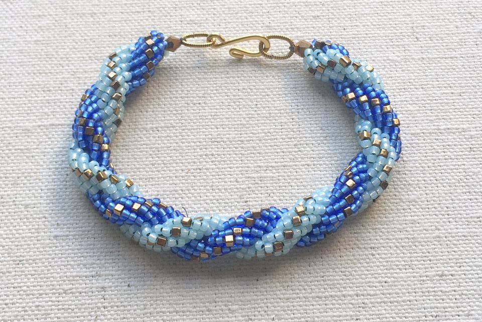 Double spiral rope bracelet tutorial
