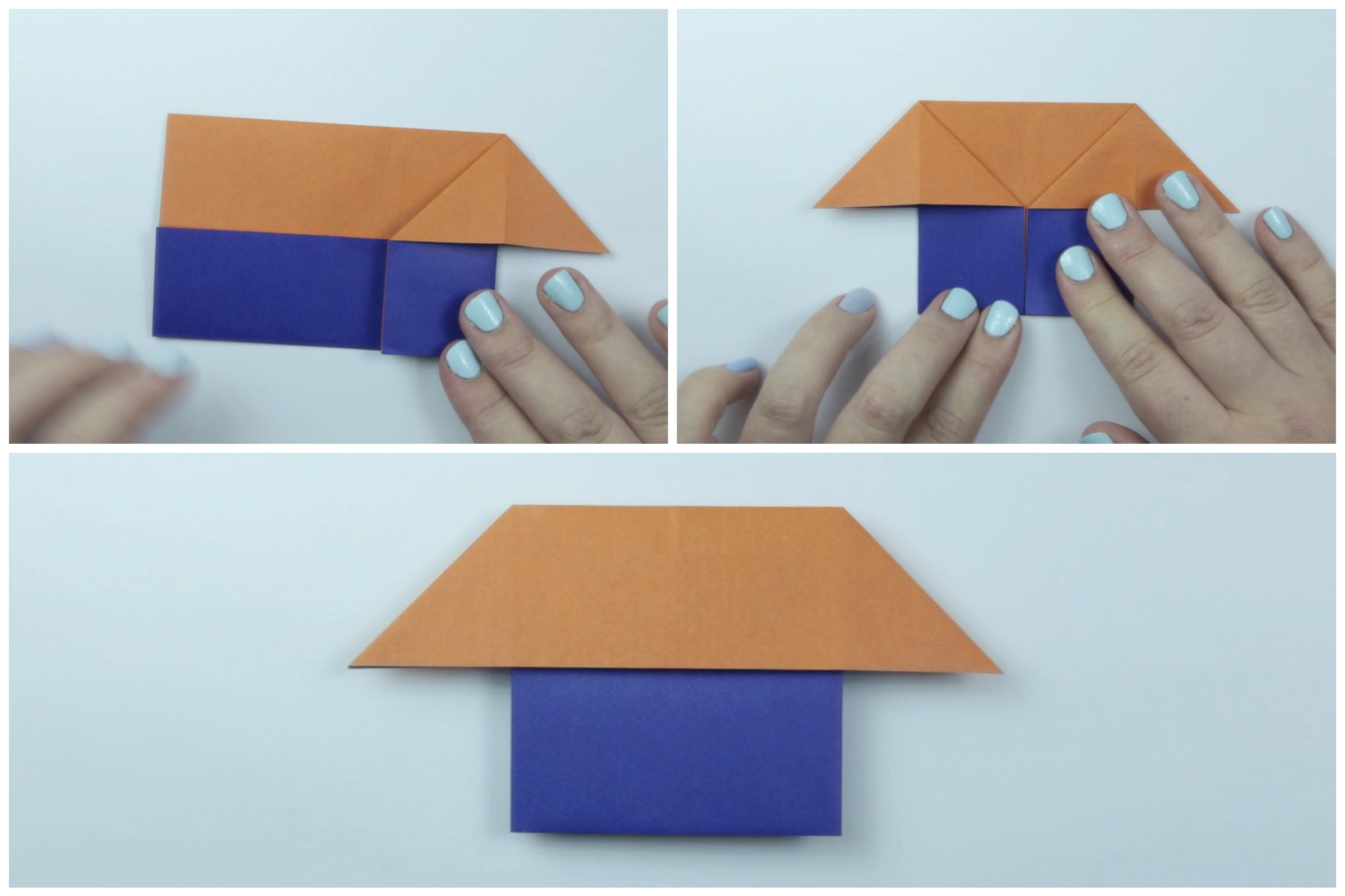 Easy Origami House Tutorial Cute Mouse Diagram