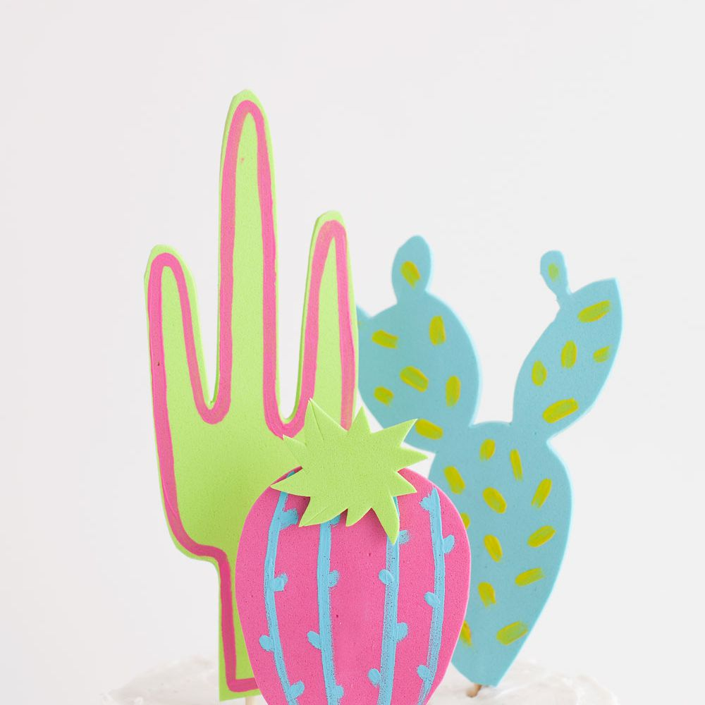 DIY Cactus Cake Topper