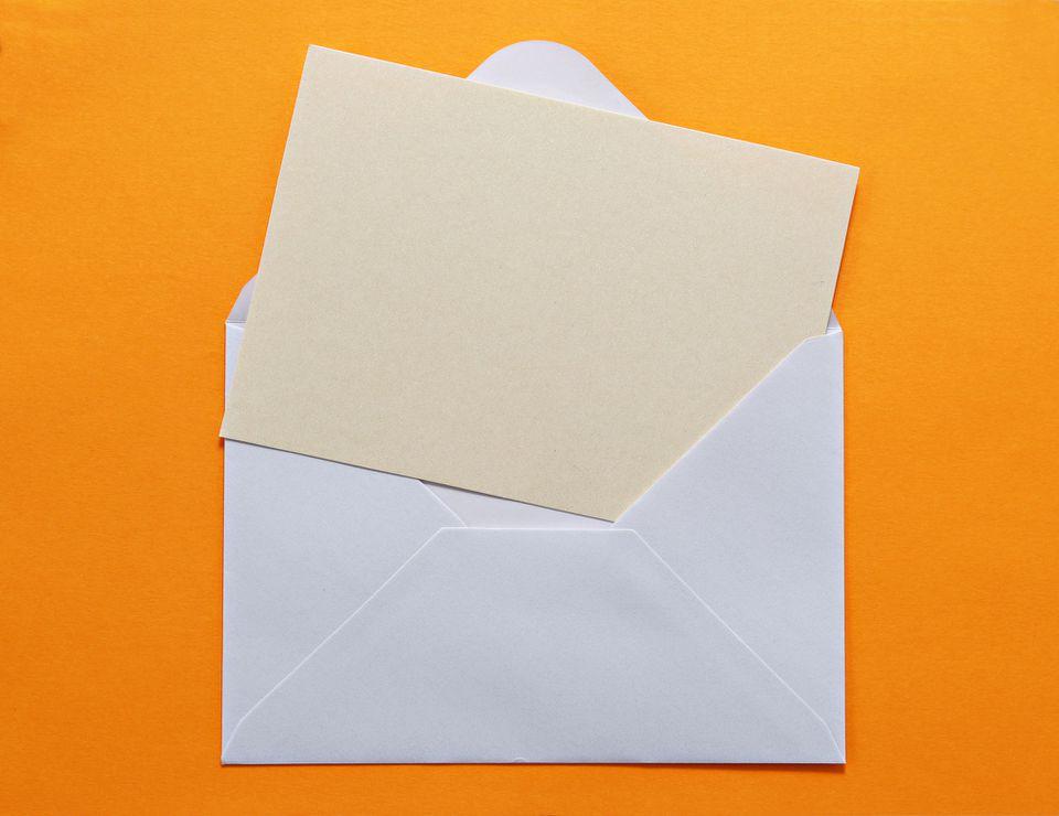 letter going in envelope