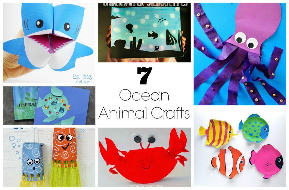 8 Crafts For Ocean Animal Fun