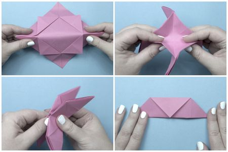 Round Origami Sectioned Box Instructions