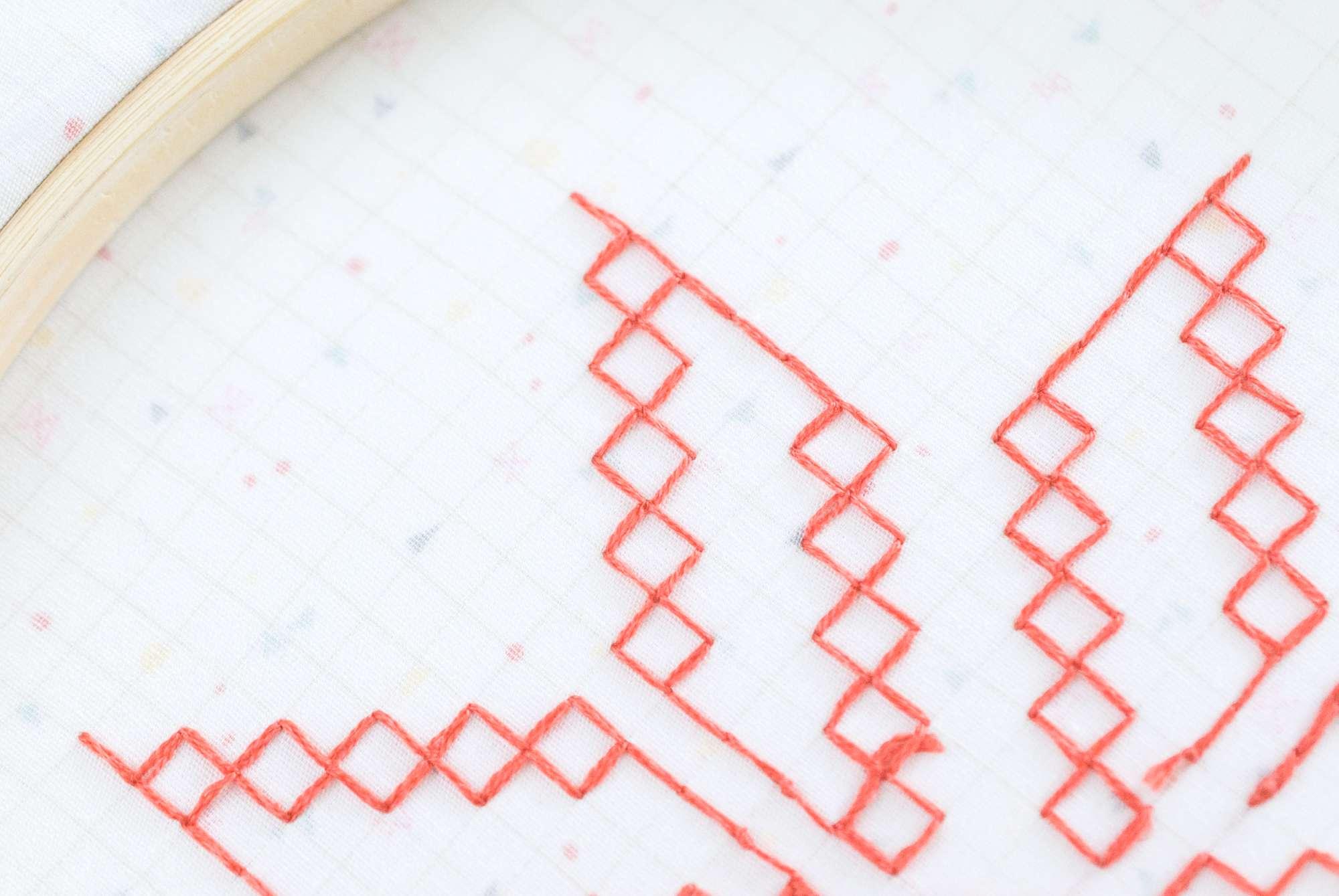 Back of Kasuti Embroidery