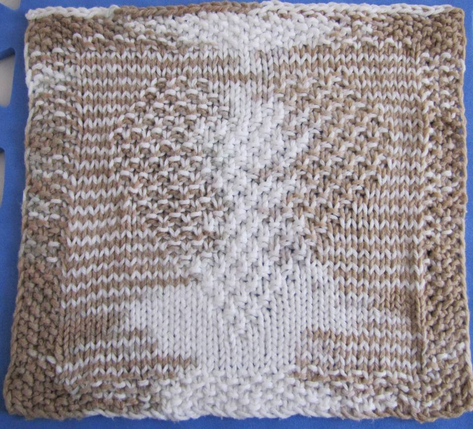 Free Knitting Pattern for a Heart Washcloth