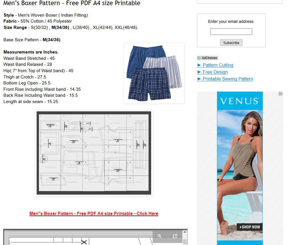 9 Free Boxers and Underwear Sewing Patterns