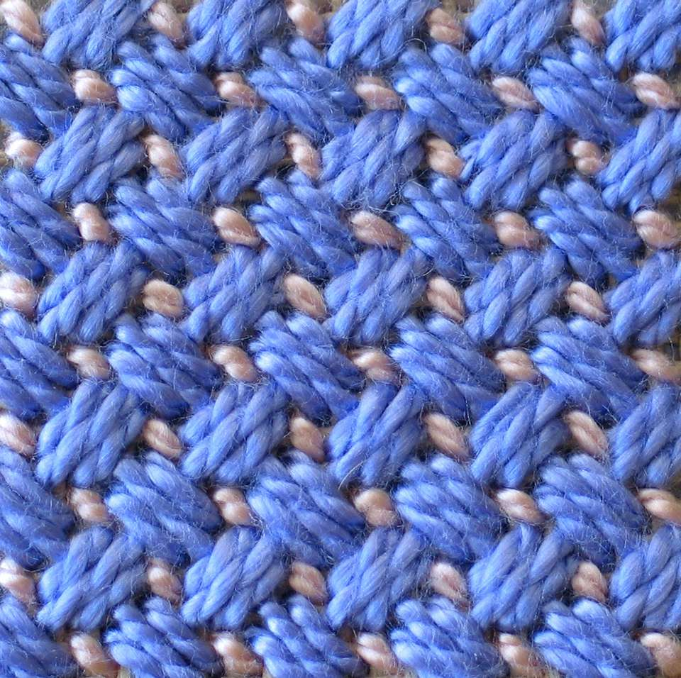 An example of Criss-Cross Hungarian stitch