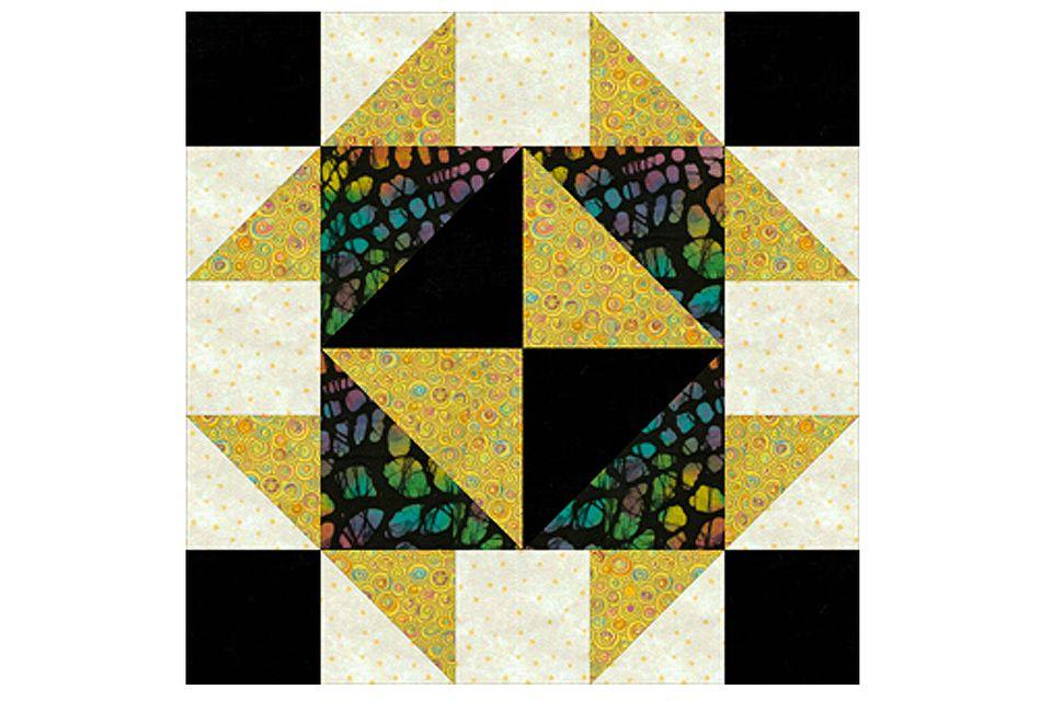 Broken dishes quilt block pattern