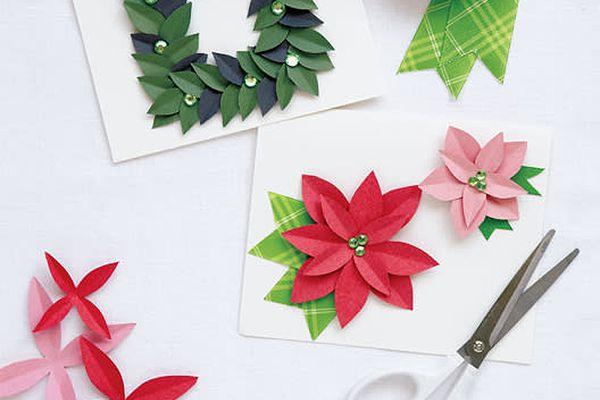 pointsetta Christmas Card
