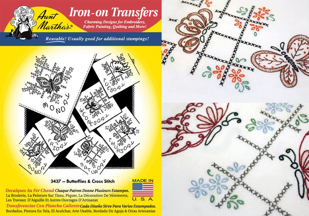 Butterflies and Cross Stitch Transfer Patterns