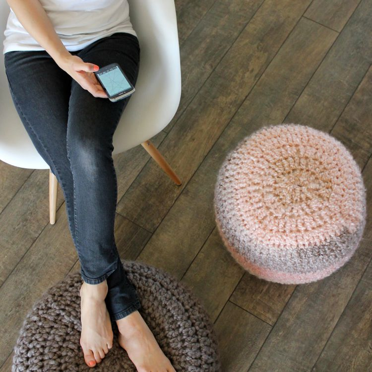 DIY Crocheted Foot Rest