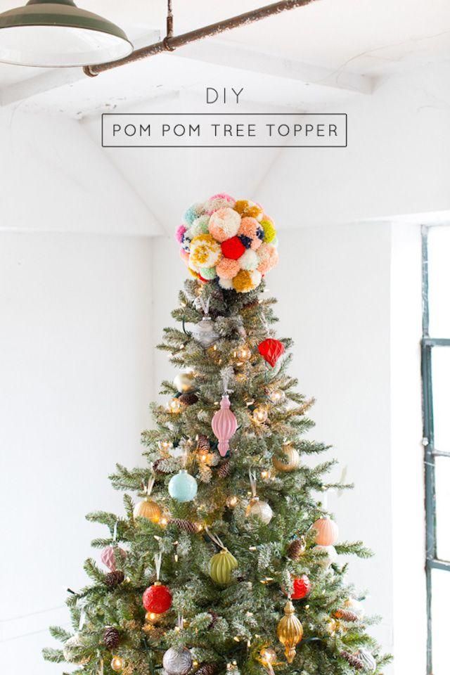 DIY Pom Pom Tree Topper