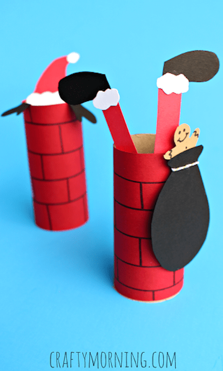 stuck in the chimney santa