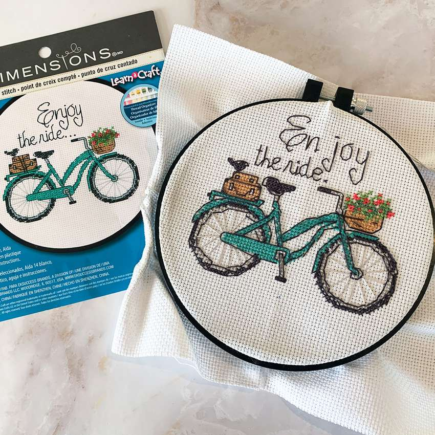 Enjoy the Ride Cross Stitch Kit