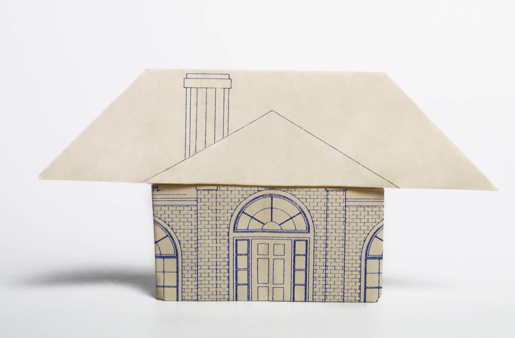 Origami - House (3D) : Walls, Roof, Door, Window - YouTube | 1180x1798