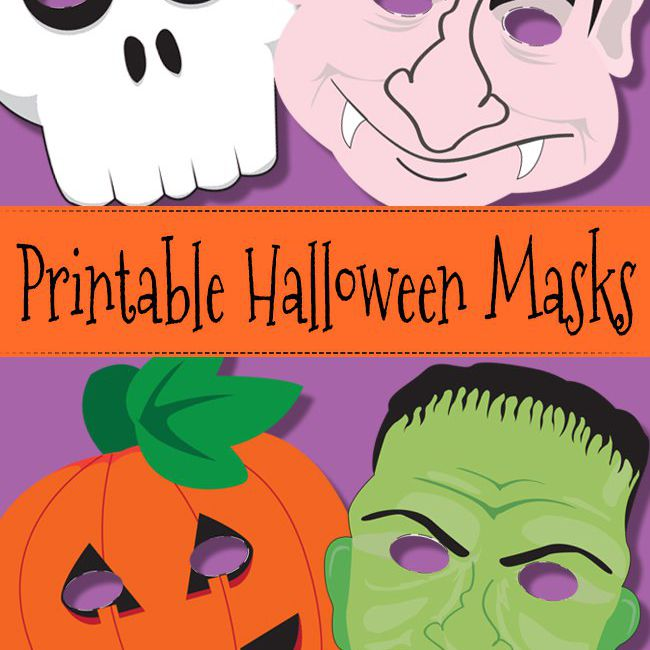 Free Printable Halloween Masks For All Ages