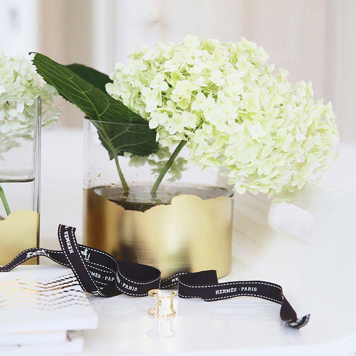 DIY Gold Gilded Vase