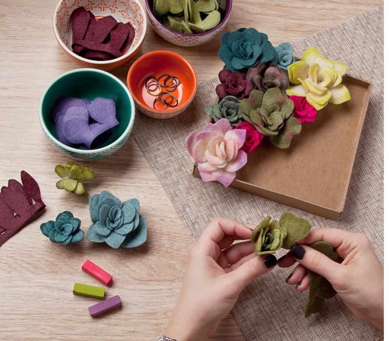 Felt-succulents-kit