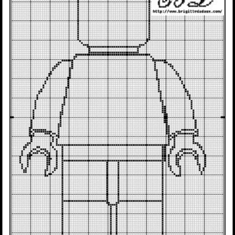 lego cross stitch pattern