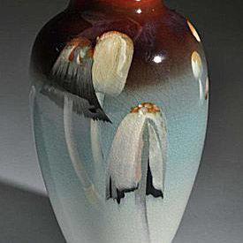 Rookwood Iris Glazed Mushroom Vase