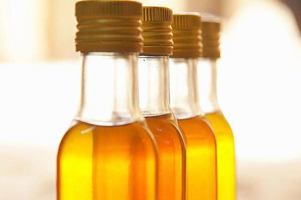 Four bottles of oil