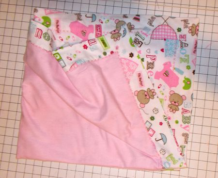 How to Sew a Baby Receiving Blanket