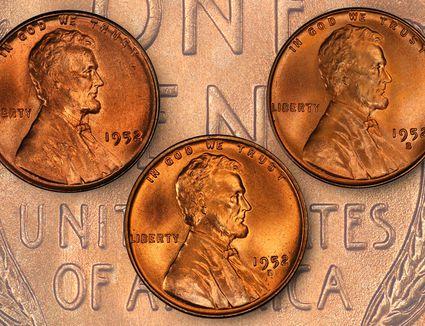 1952 Lincoln wheat pennies