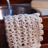 Puff Lace Crochet Washcloth Pattern