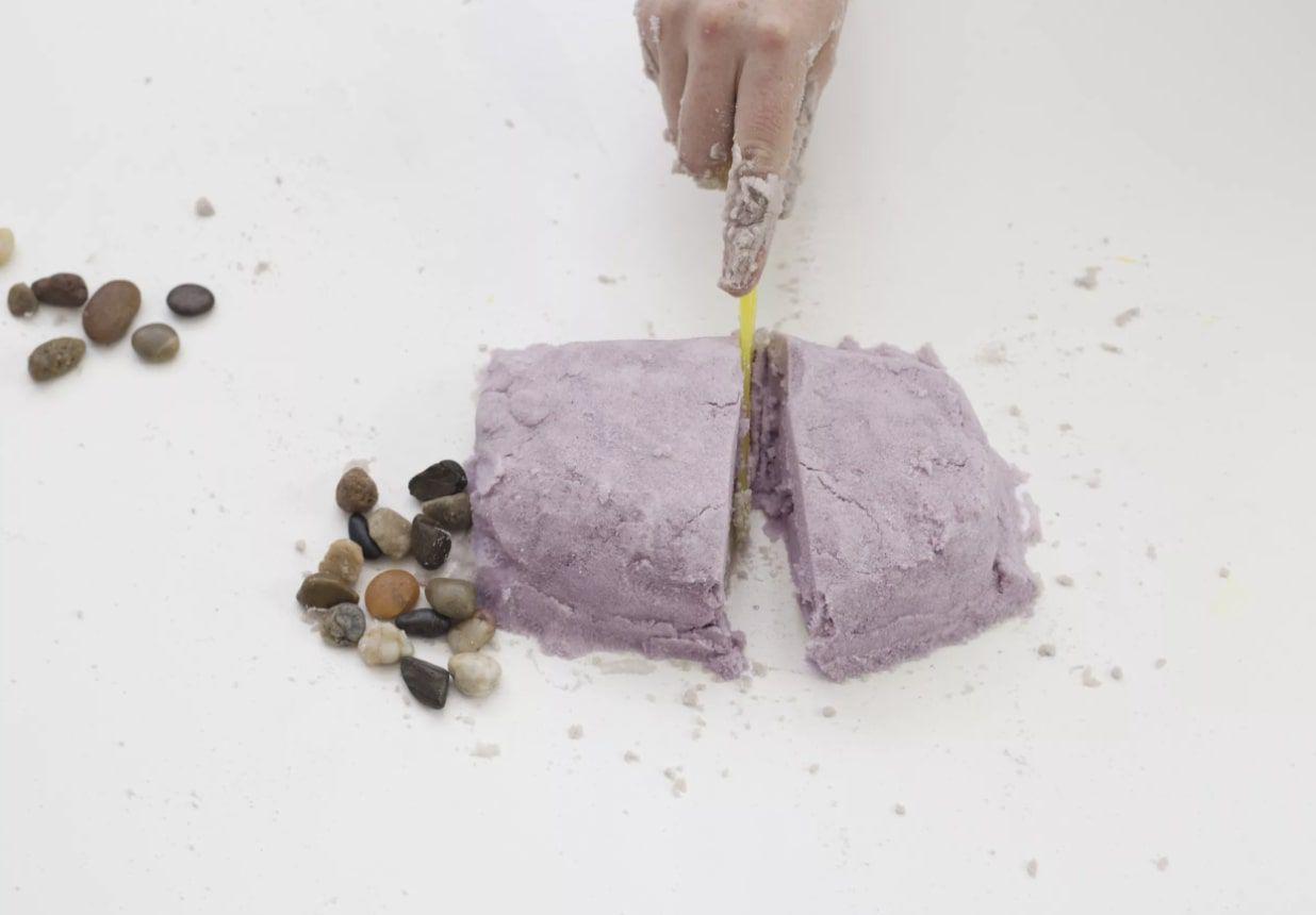 purple DIY kinetic sand
