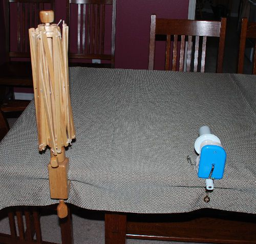 Setting up the swift and winder