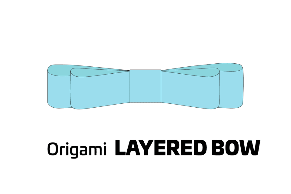Origami Layered Bow Decoration 01