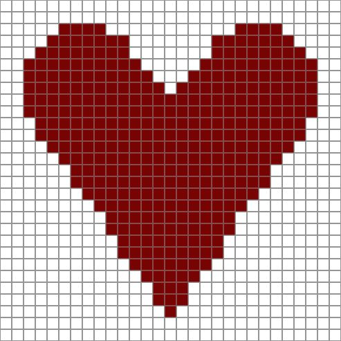 Free Printable Heart Chart for Crochet and Other Crafts