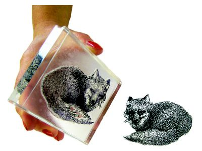 Lino or linoleum block for linocut carving and printing