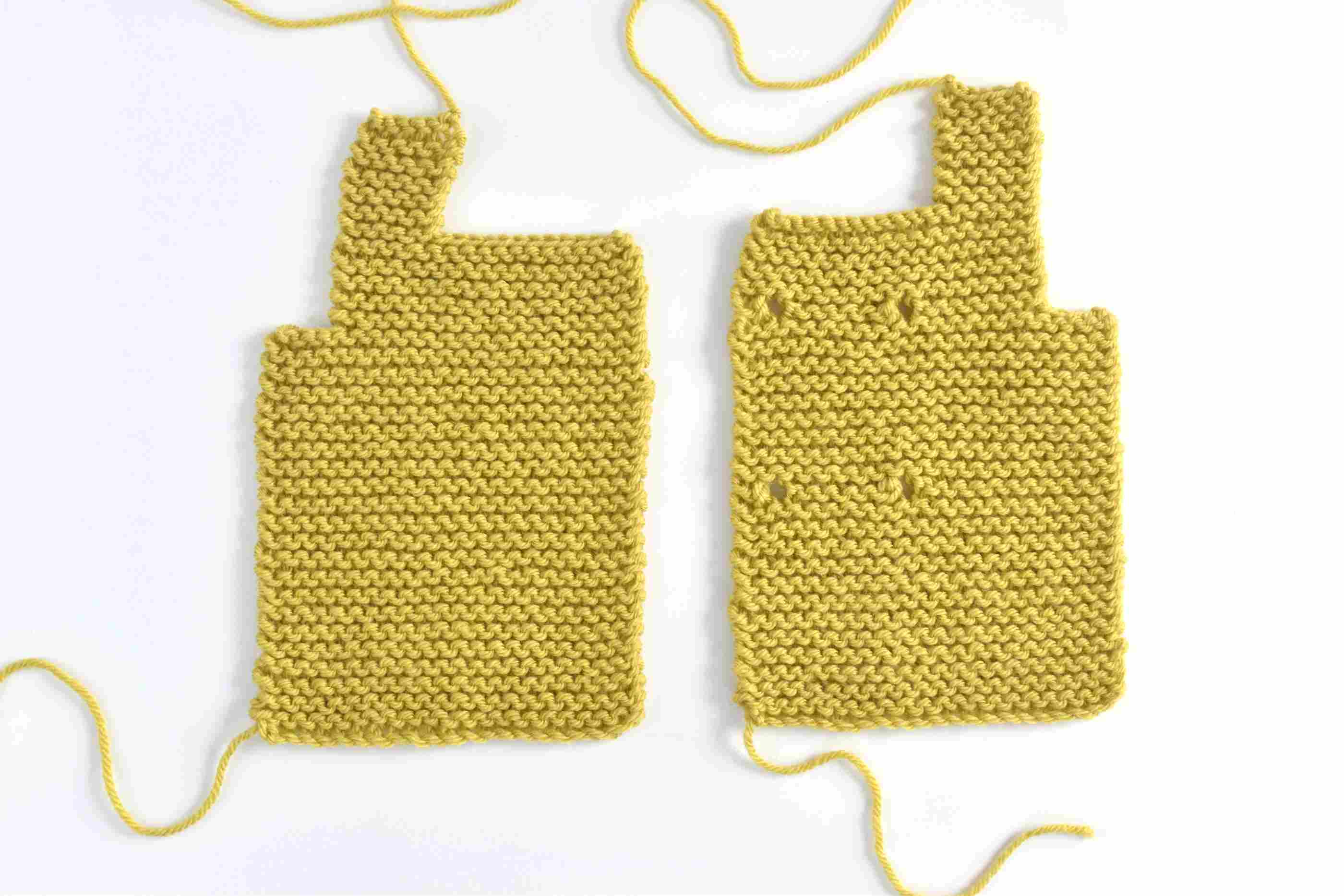 88703b46e How to Knit a Toggle Button Baby Sweater
