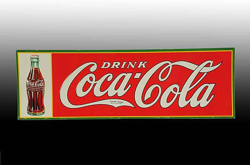 Embossed Tin Coca-Cola Collectibles Sign