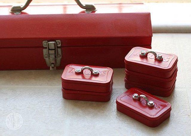 mini Altoid tin toolboxes