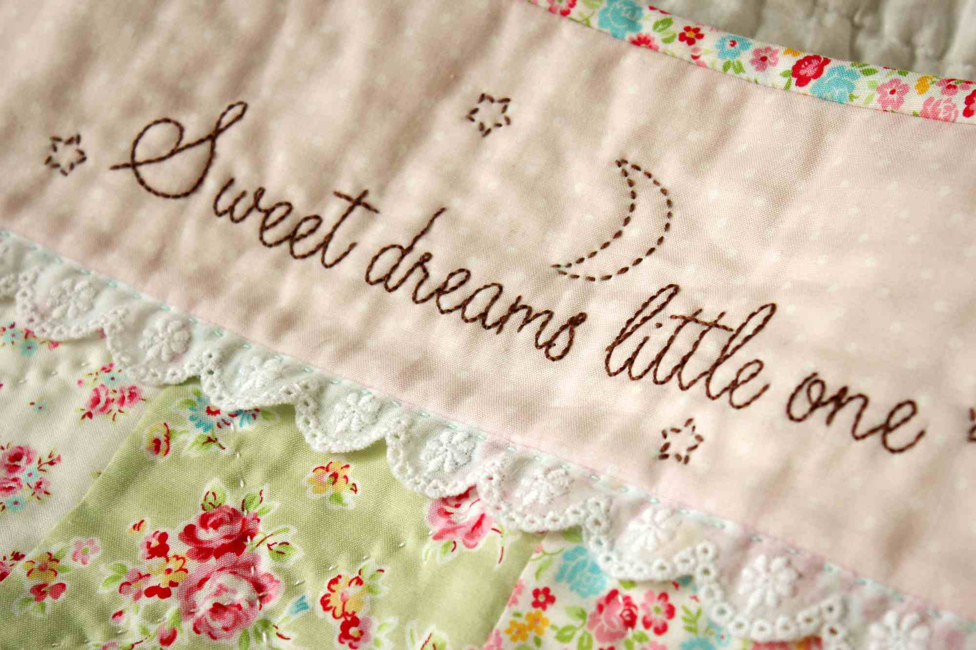 Sweet Dreams Little One Embroidery Pattern