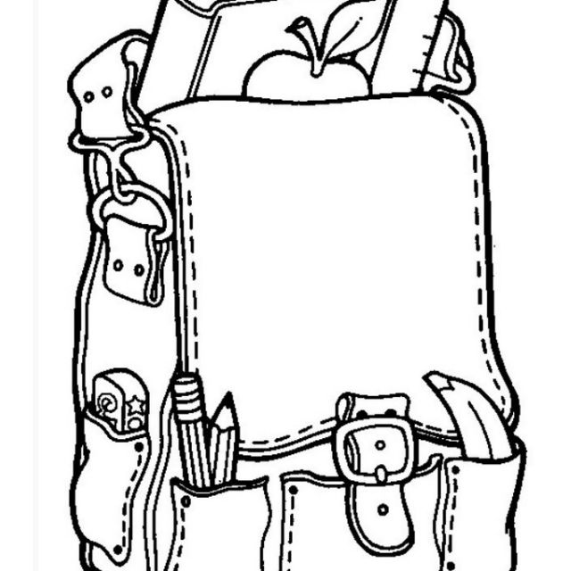 School Supplies Coloring Pages For Kids School Supplies Coloring ... | 640x640